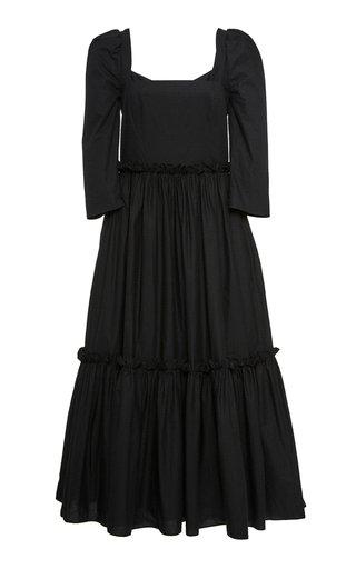 Blue Hill Cotton-Poplin Midi Dress