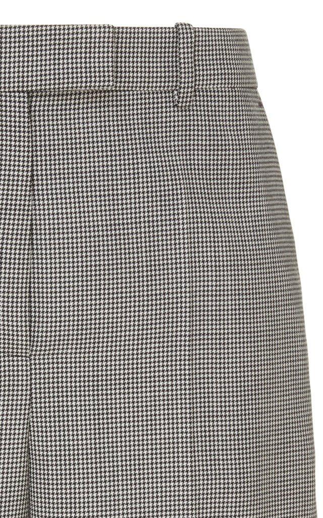 Checked Wool Bermuda Shorts