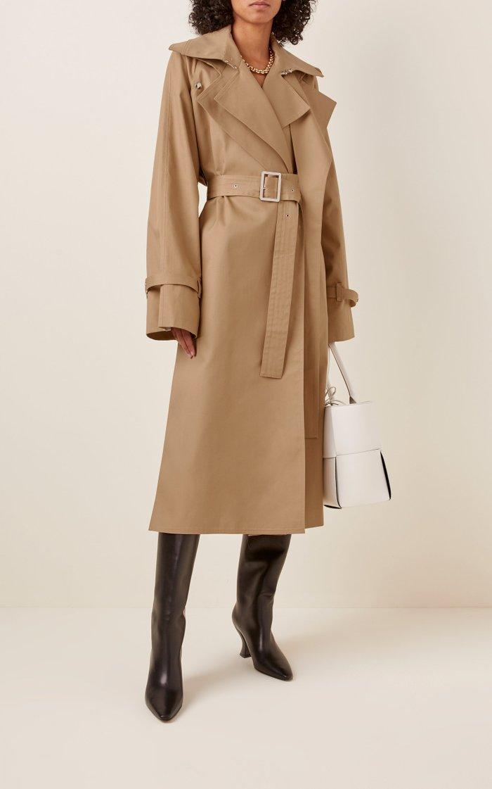 Belted Cotton-Blend Gabardine Trench Coat