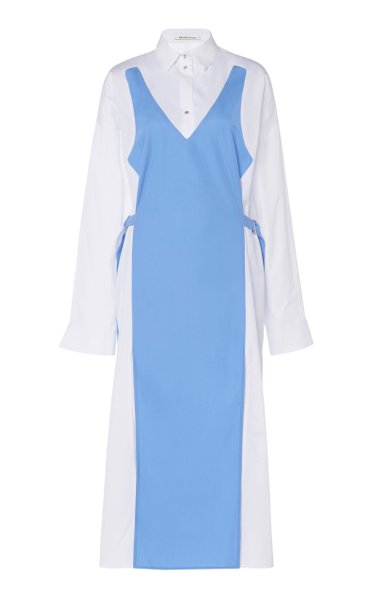 Dual-Cotton Shirt Dress