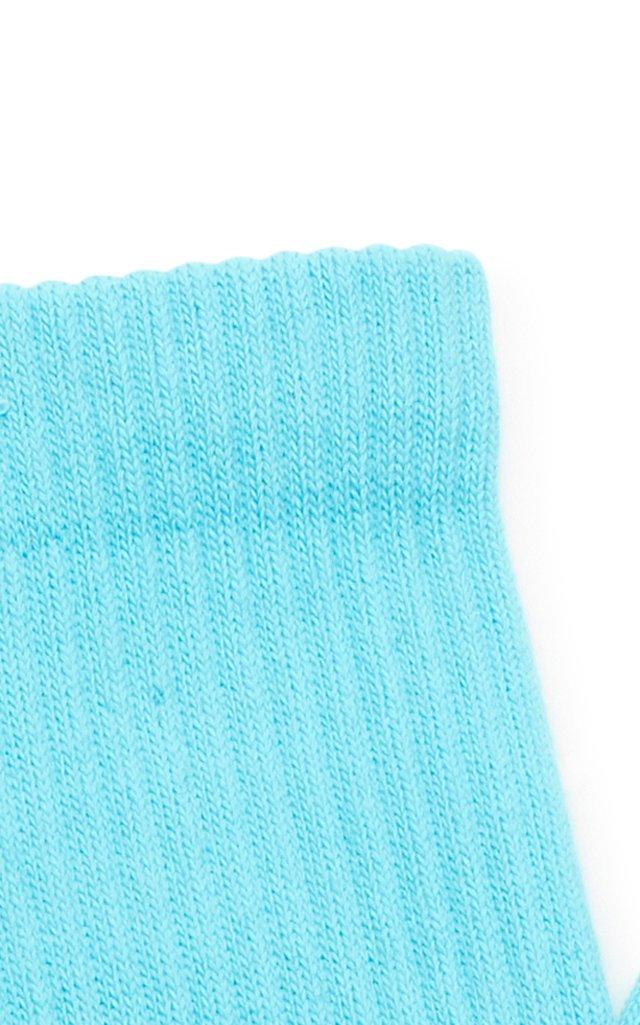 Intarsia Cotton-Blend Socks