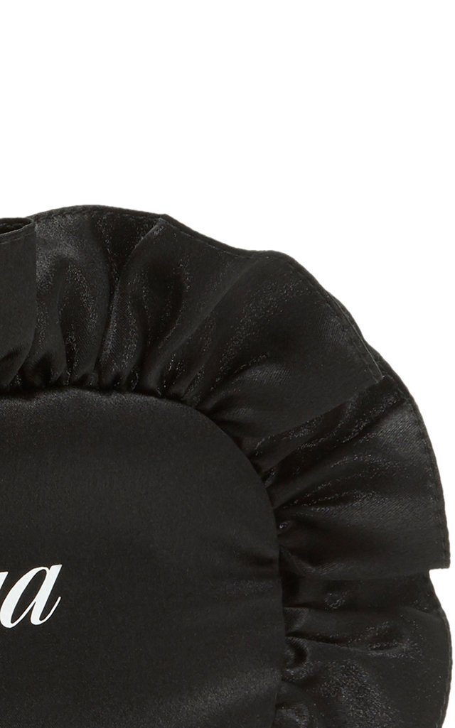 Printed Ruffled Silk Eye Mask