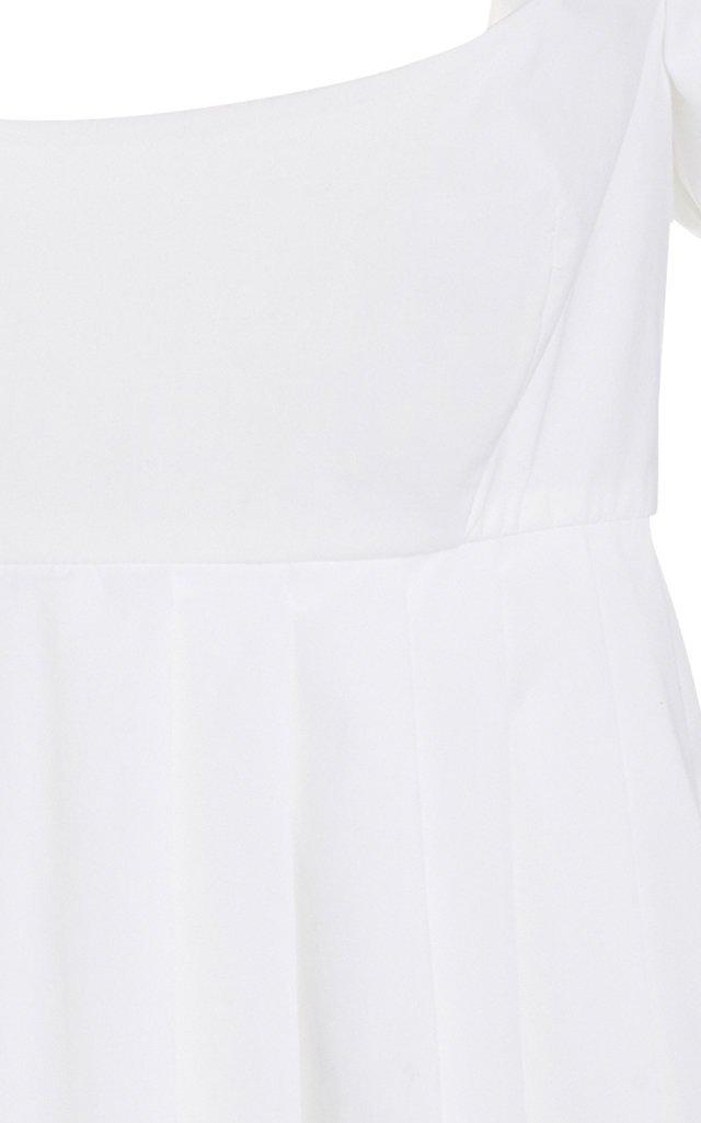 Cotton-Blend Peplum Top
