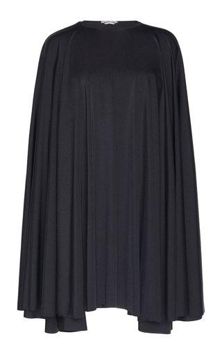 Draped Jersey Mini Cape Dress