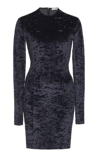 Crushed Velvet Biker Short Mini Dress