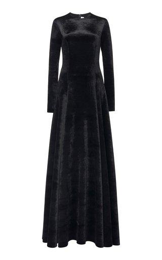 Bonded Velvet Maxi Dress
