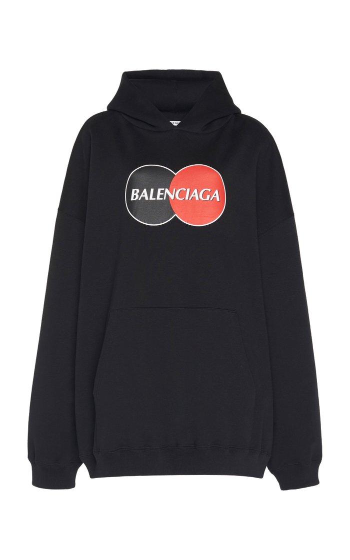Logo-Print Jersey Oversized Hoodie