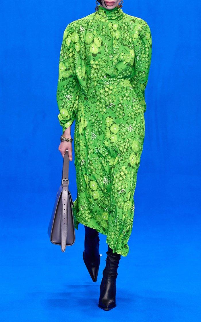 Twisted Pleats Midi Skirt