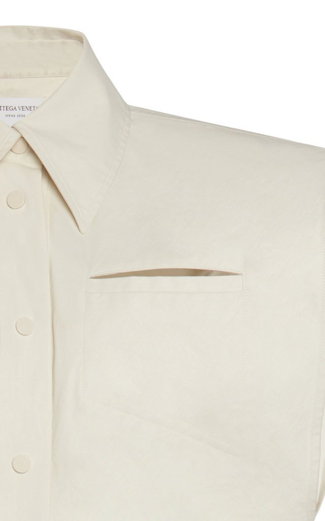 Coated Cotton-Canvas Midi Dress