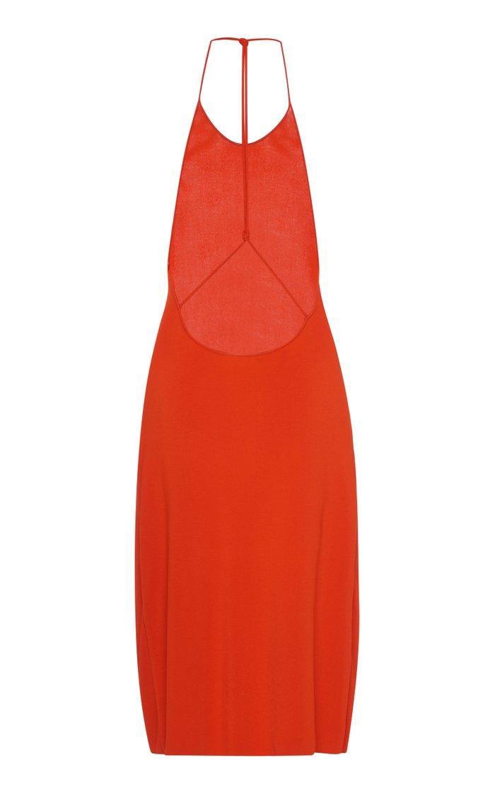 Stretch-Jersey Halterneck Dress