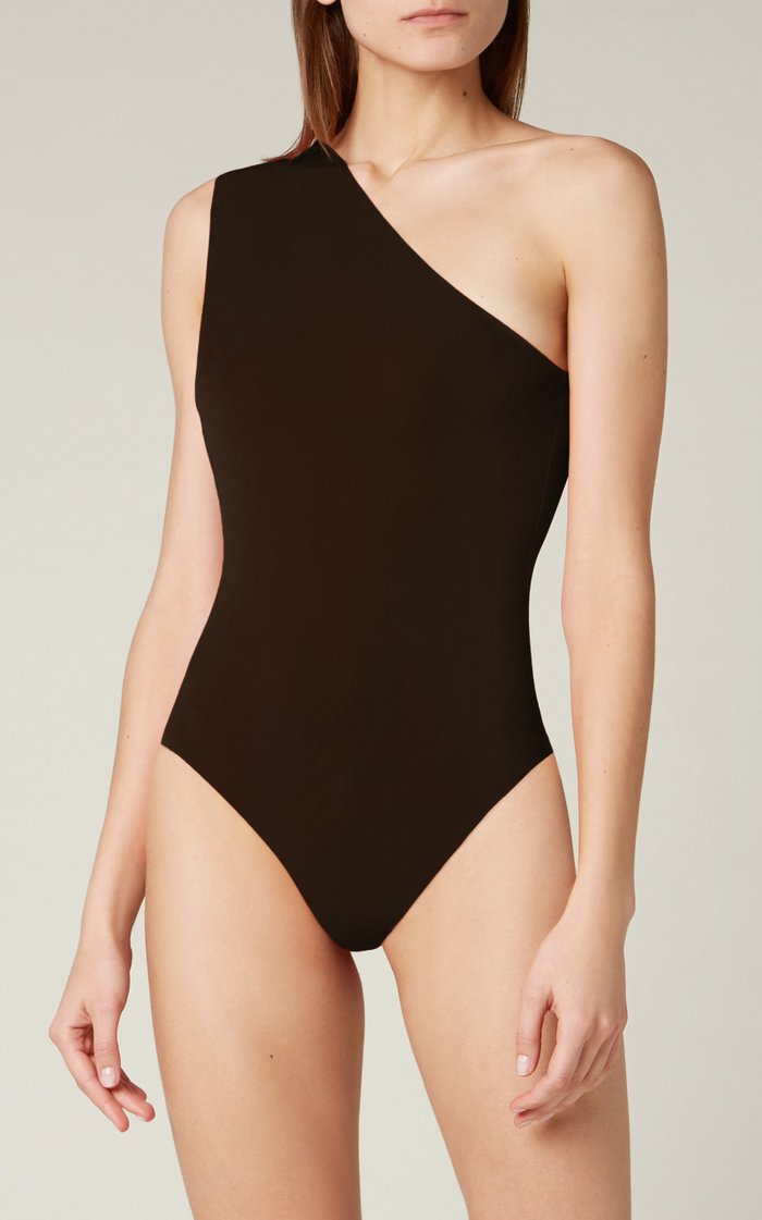 One-Shoulder Stretch-Jersey Swimsuit