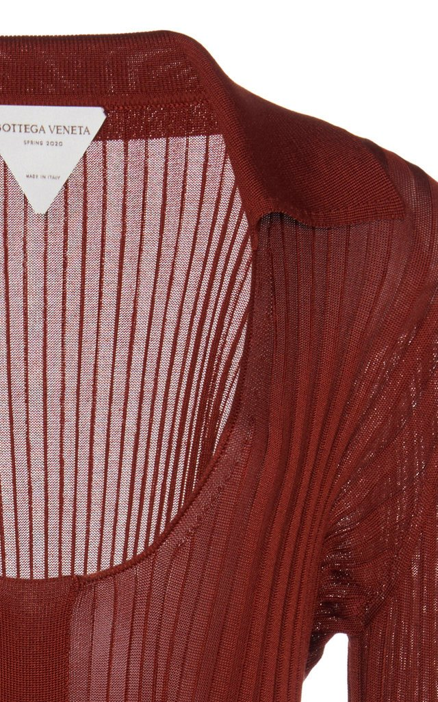 Ribbed Silk-Blend Top