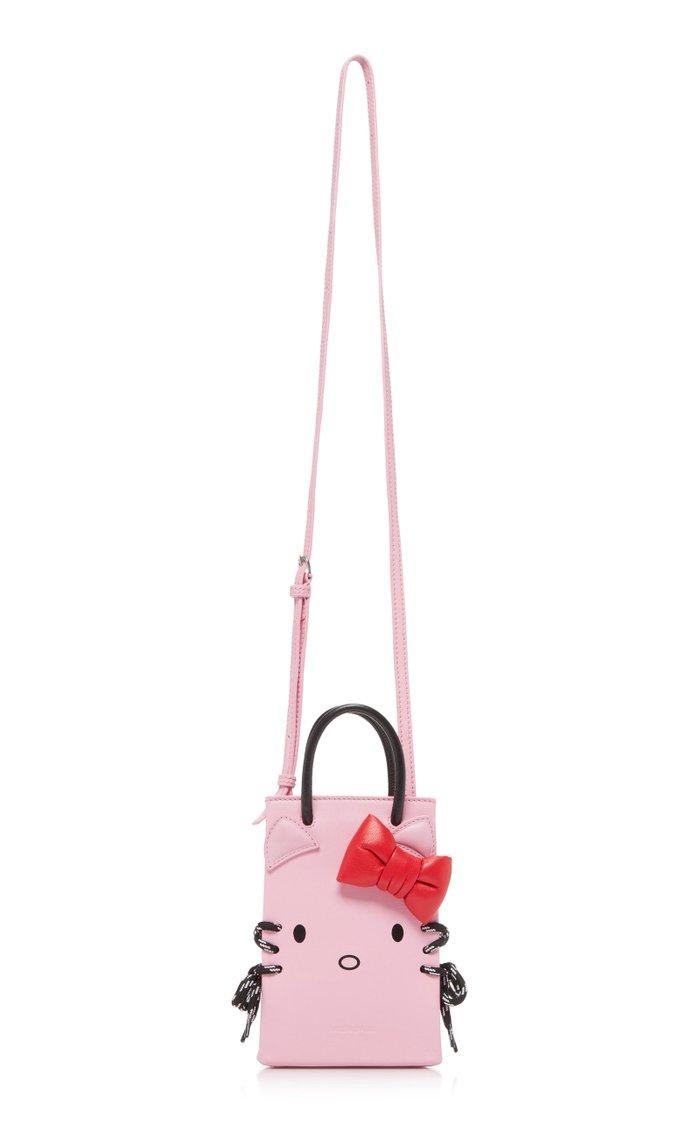 Kitty Phone Holder Leather Bag