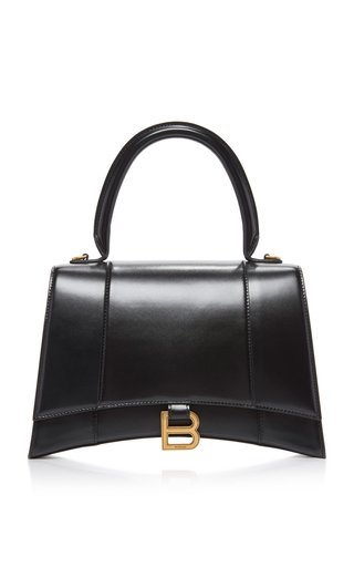 Hourglass M Polished Leather Bag