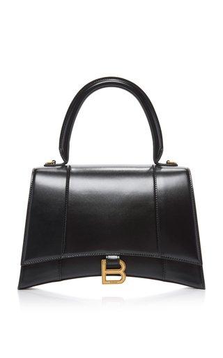 Hourglass M Polished Leather Bag