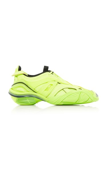 Tyrex Mesh-Detailed Rubber Sneakers