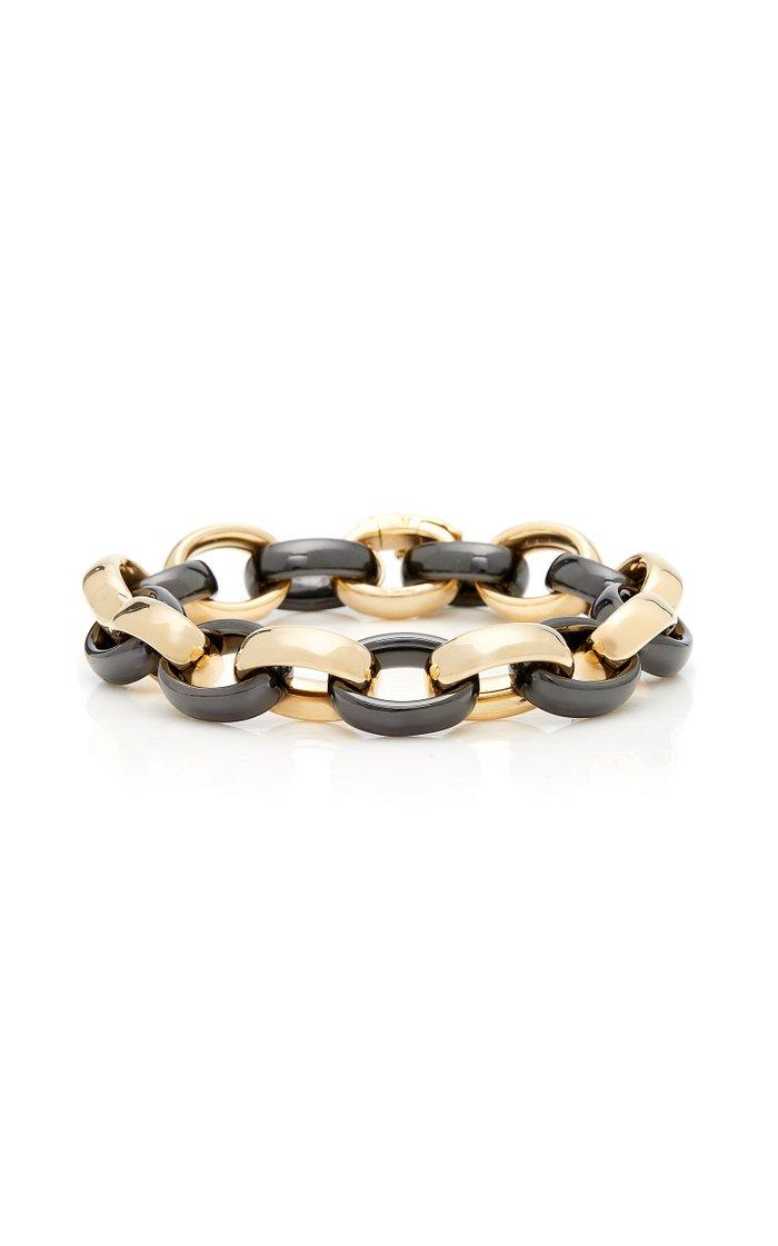 18K Gold And Ceramic Bracelet