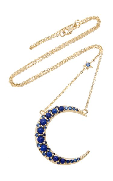 18K Gold, Lapis And Sapphire Necklace