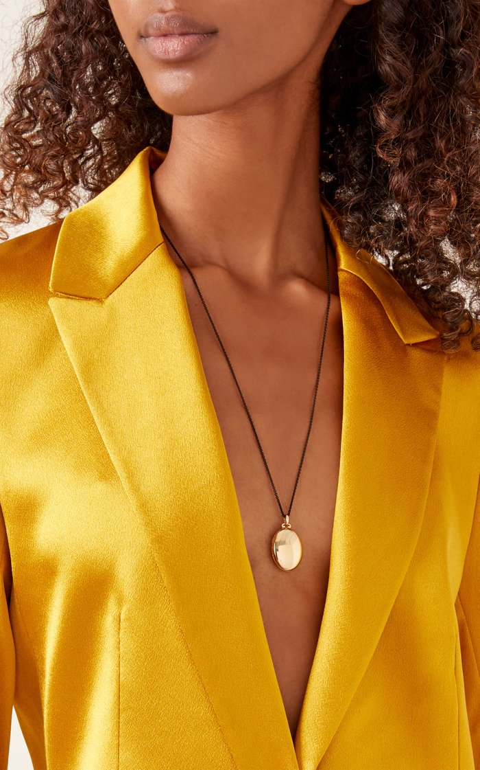 18K Gold And Steel Necklace
