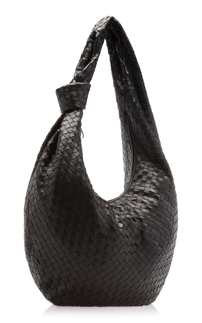 Jodie Knotted Intrecciato Leather Shoulder Bag
