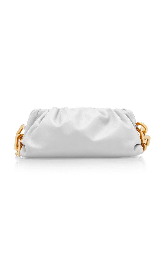 Gathered Leather Shoulder Bag