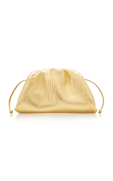 The Mini Pouch Metallic Leather Clutch