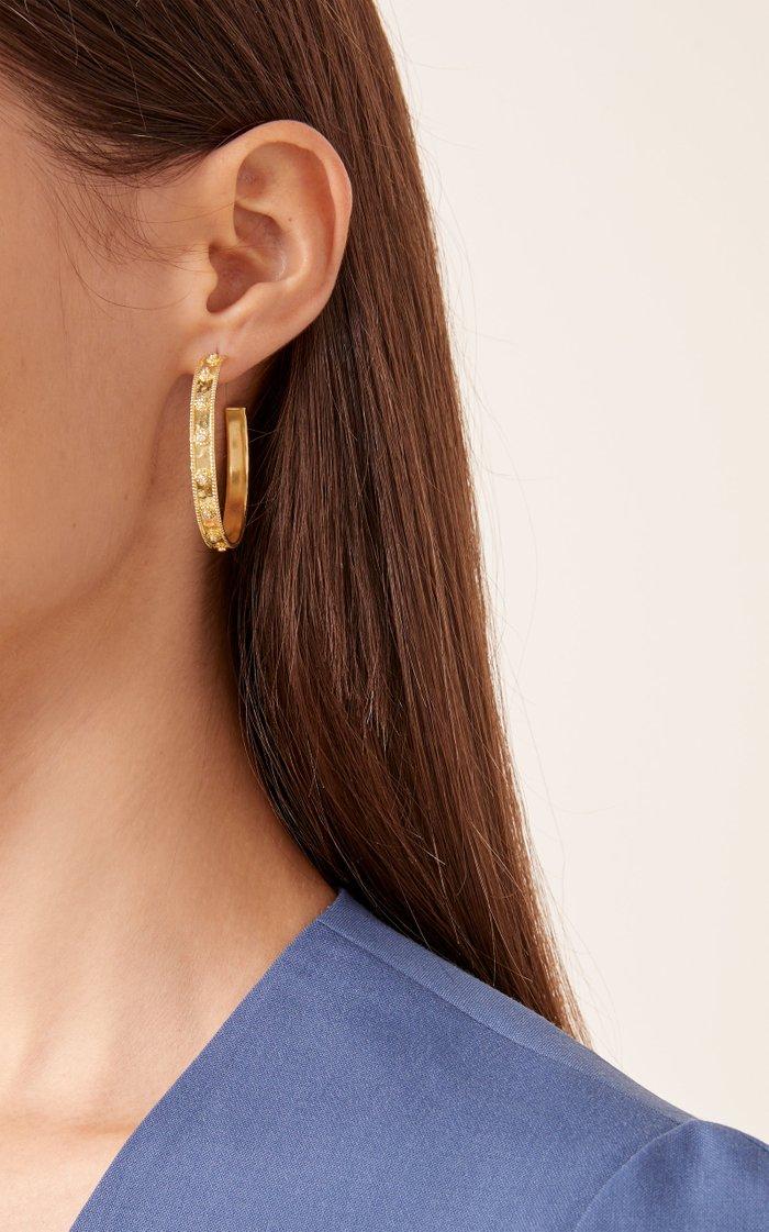 Revati 18K Gold And Diamond Hoop Earrings