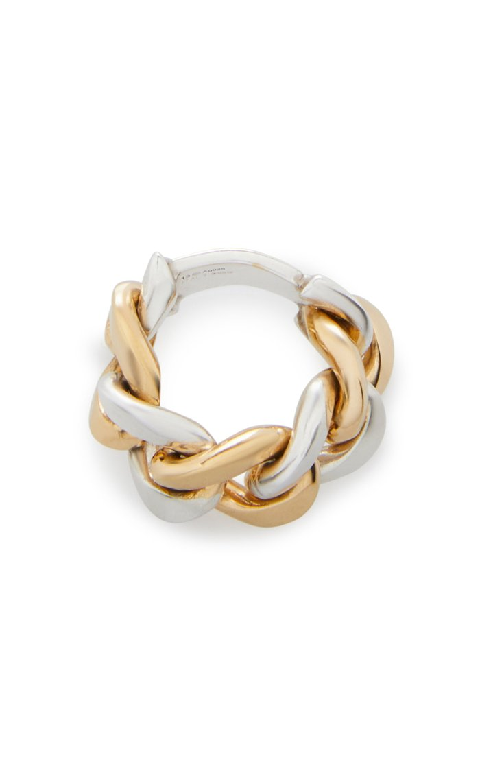 Two-Tone Woven Gold-Plated Sterling Silver Ring