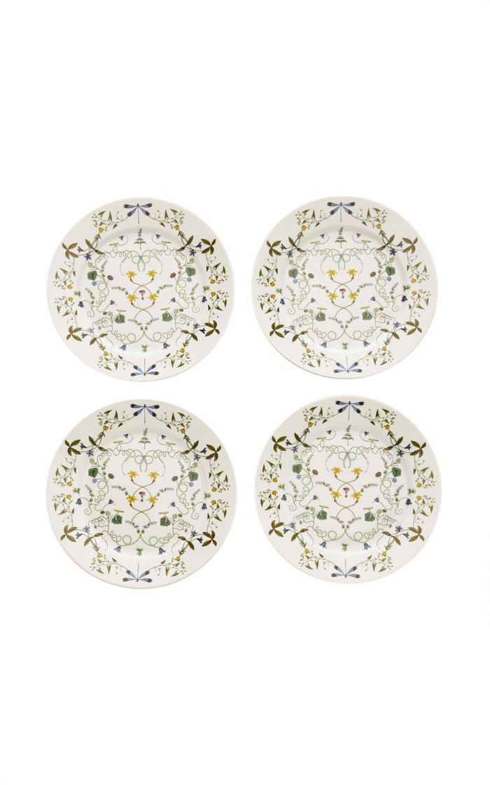 Récamier Set-Of-Four Porcelain Dinner Plates