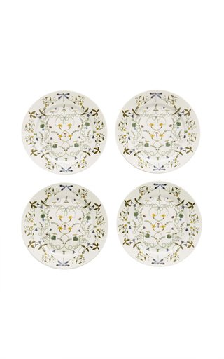 Récamier Set-Of-Four Porcelain Dinner Plates
