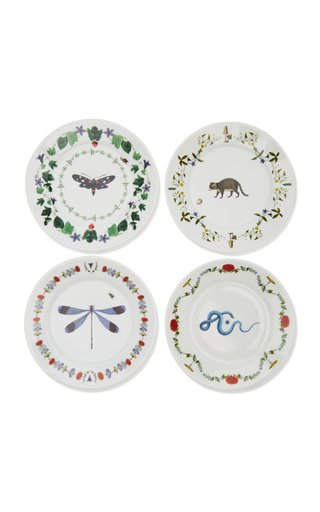 Récamier Set-Of-Four Porcelain Dessert Plates