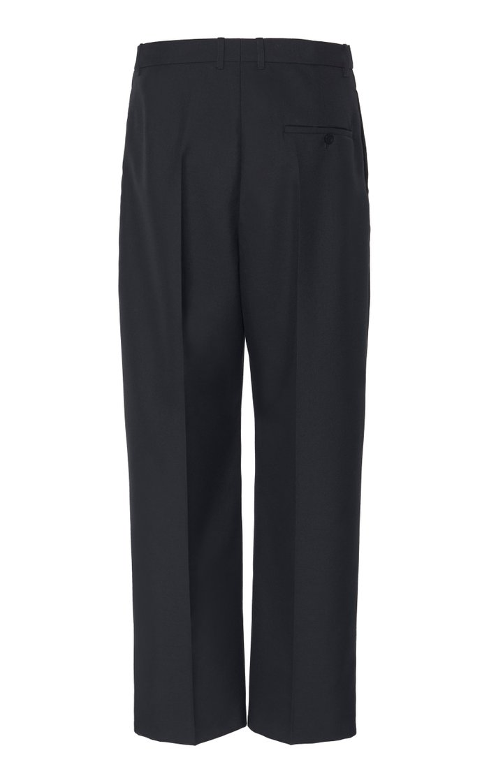 Oversized Cropped Twill Pants