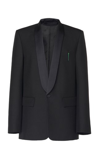 Satin-Lapel Gabardine Tuxedo Jacket