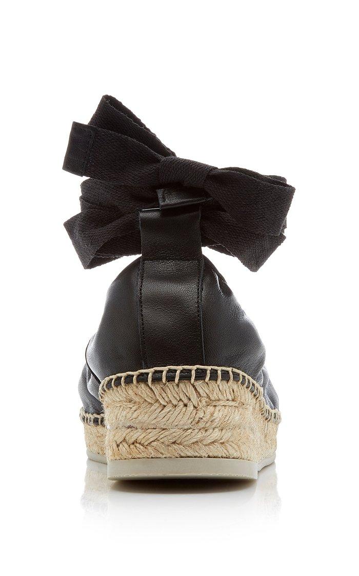 Caprala Lace-Up Leather Espadrilles