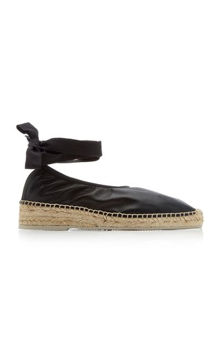 Caprala Lace-Up Leather Espadrilles
