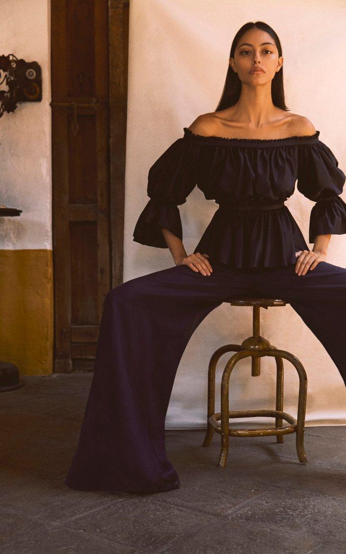 Eivissa Wide-Leg Linen Pants