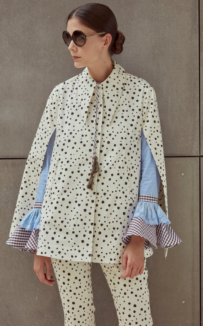 Maria Varilla Striped Cotton-Poplin Top