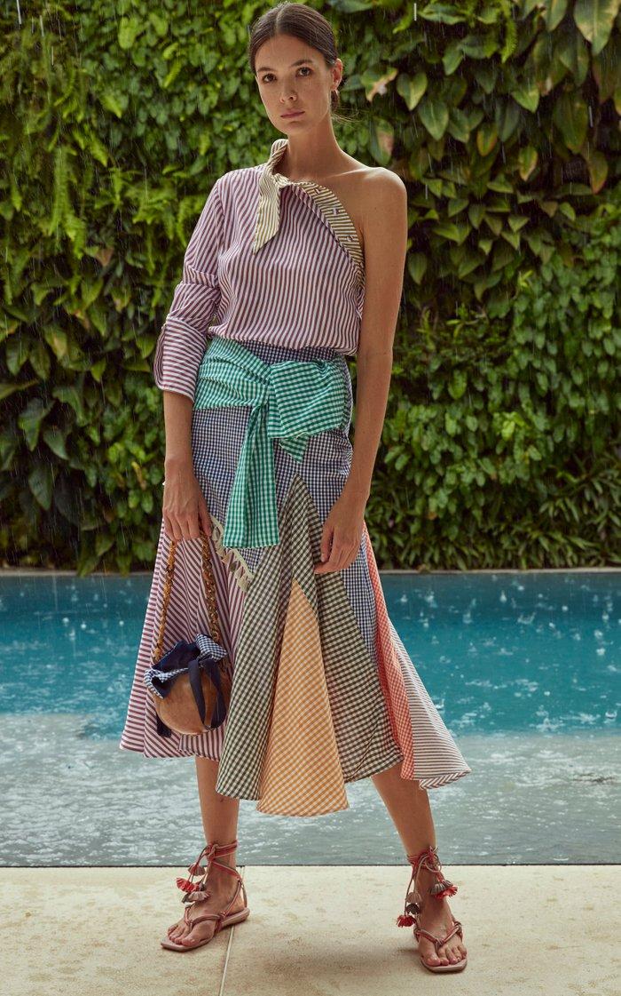 Tania Striped Cotton-Poplin Top