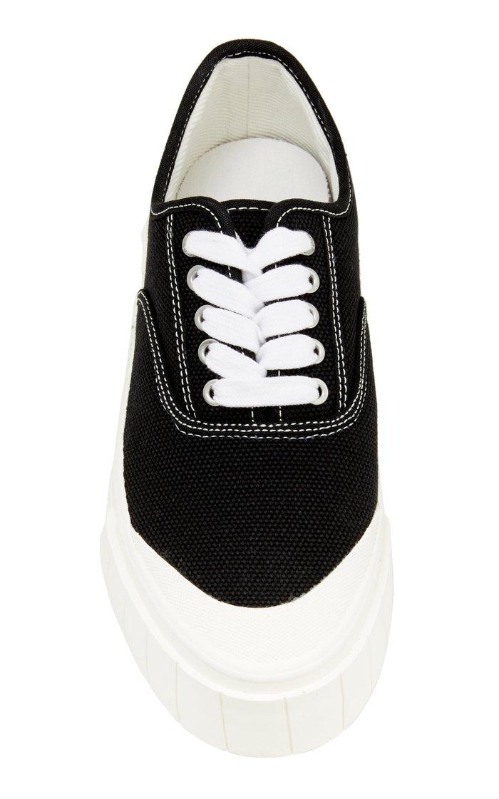 Ace Canvas Platform Low-Top Sneakers