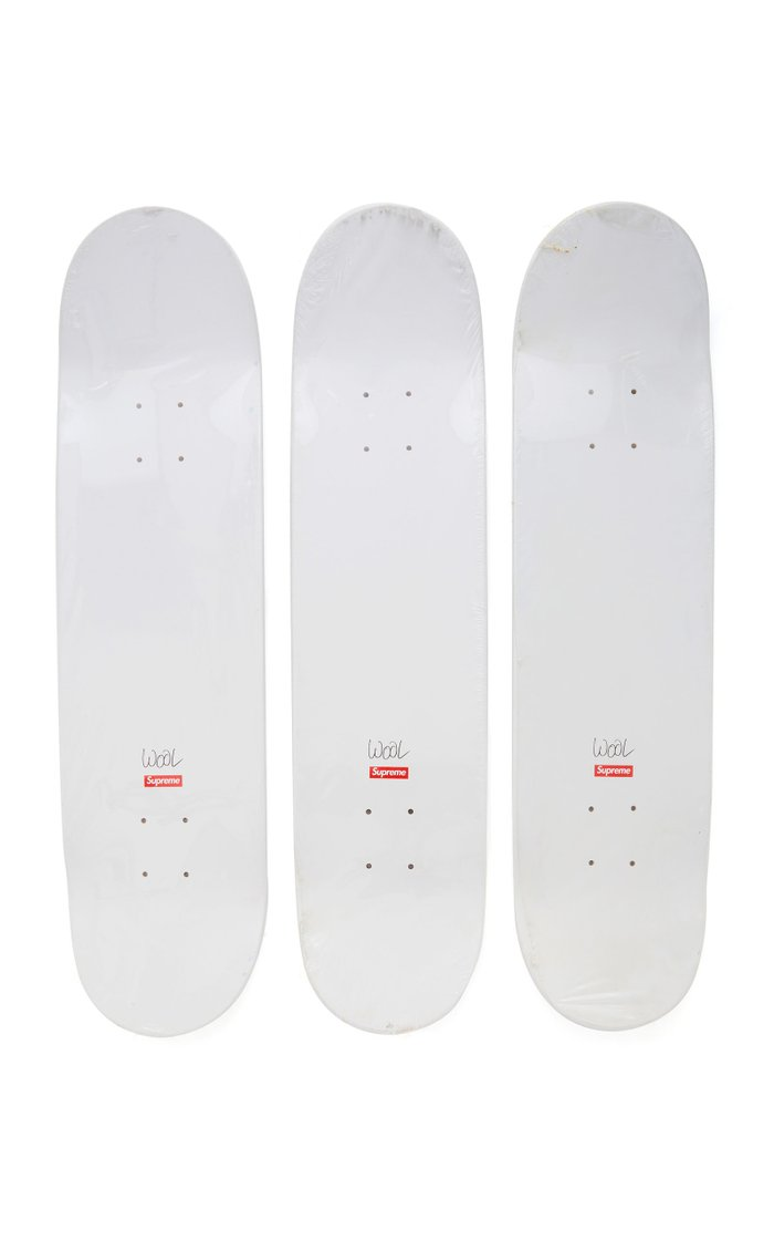 Christopher Wool x Supreme Set-of-Three Skateboard Decks