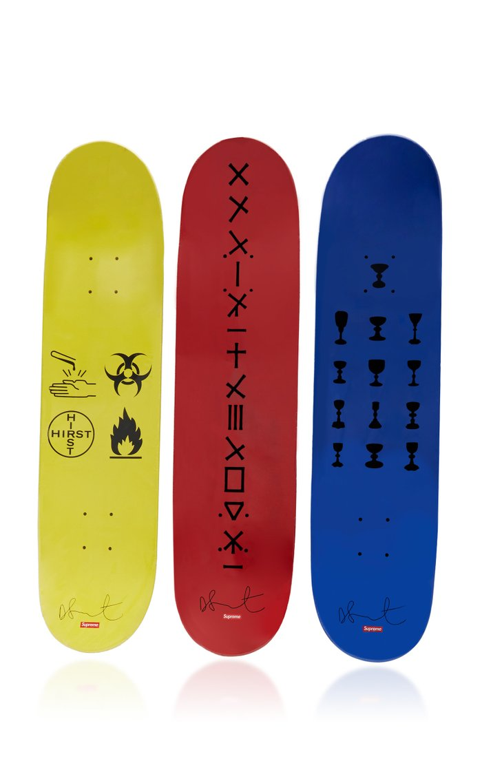 Damien Hirst x Supreme Set-of-Three Skateboard Decks