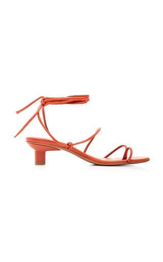 Roma Leather Lace-Up Sandals