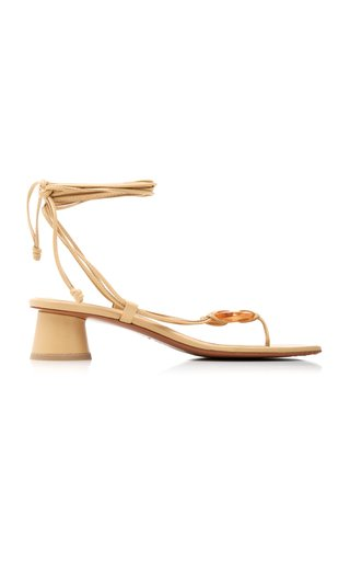 Cala Leather Lace-Up Sandals