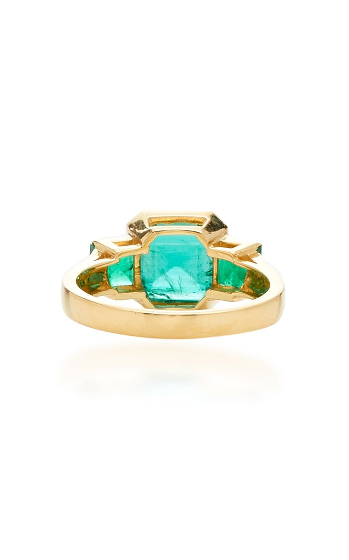 18K Gold And Emerald Ring