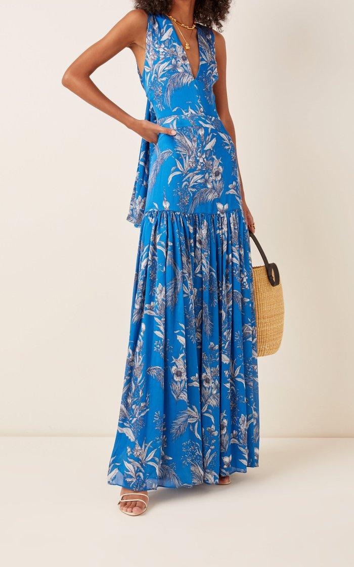 Belaya Printed Georgette Dress