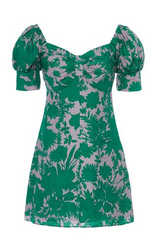 Pilou Printed Linen Mini Dress