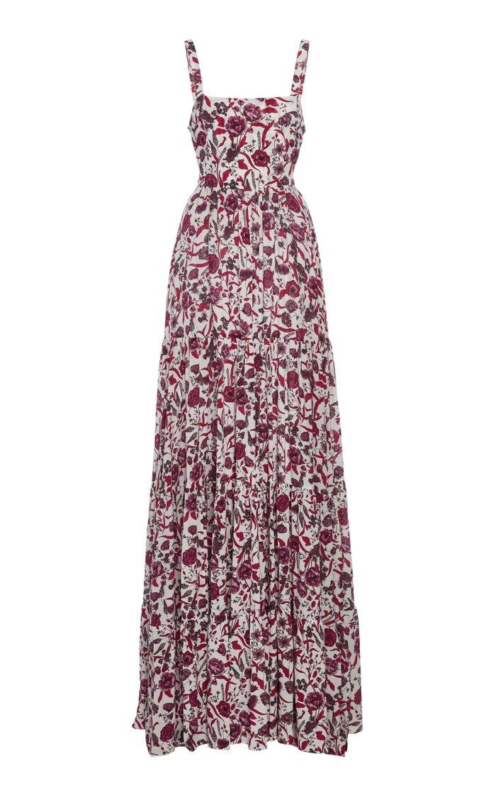 Zofia Printed Crepe Maxi Dress