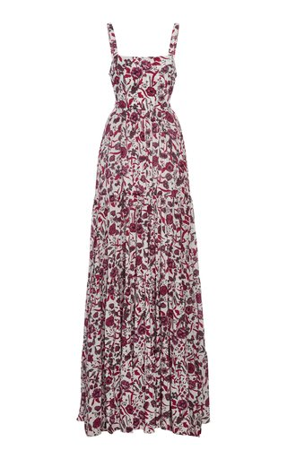 Zofia Printed Crepe Maxi Dress