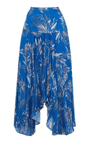 Tarou Printed Plisse Skirt