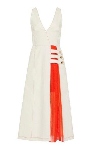 Ilan Two-Tone Cotton-Blend Dress